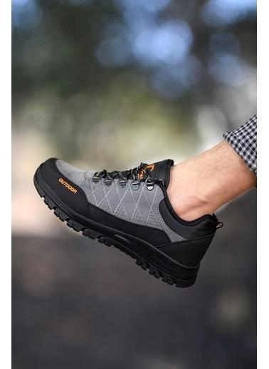 Riccon Haki Siyah Erkek Trekking Ayakkabı 0012114 Füme